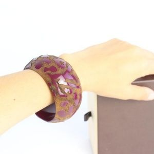 Louis Vuitton Jewelry - Lacquer Wood Leomonogram Cuff Bracelet 14lz0828
